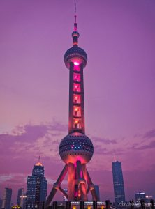 The Oriental Pearl Tower in Shanghai
