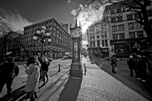 The Gastown Steam Clock in Vancouver