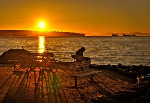 Sunset in Stanley Park, Vancouver