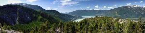 Panoramic of The Stawamus Chief, Squamish