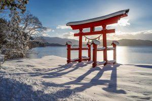 Torii in Lake Tazawa