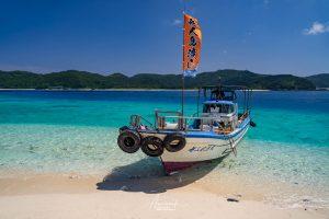 Taxi boat in Zamami Island